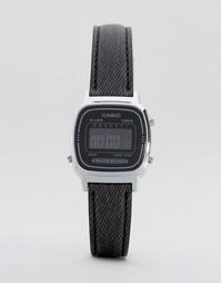 Часы с черным кожаным ремешком Casio LA670WEL-1BEF - Черный