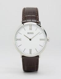 Часы на коричневом кожаном ремешке Hugo Boss Ultra Jackson