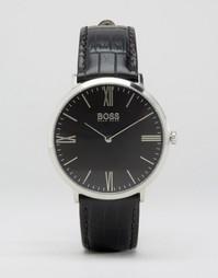 Часы с кожаным ремешком Hugo Boss Ultra Jackson - Черный