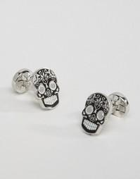 Черные запонки в виде черепа Noose & Monkey - Черный