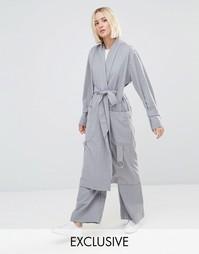 Комбинируемый тренч в стиле casual House Of Sunny Luxe - Серый
