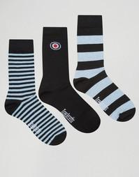 Набор из 3 пар носков Lambretta Socks - Черный