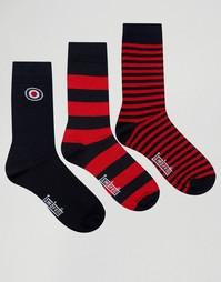 Набор из 3 пар носков Lambretta Socks - Темно-синий