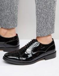 Кожаные оксфордские туфли Base London XXI Noel - Черный