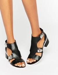 Черные сандалии с пряжками Eeight Salma - Черный