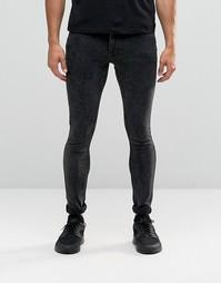 Облегающие мраморные джинсы Antioch - Черный