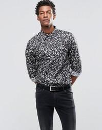 Рубашка зауженного кроя с принтом Paul Smith - Черный