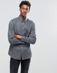 Строгая рубашка узкого кроя с принтом Paul Smith - Petrol blue