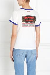 Хлопковый топ с принтом Marc Jacobs