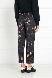 Шелковые брюки Oya с принтом Isabel Marant