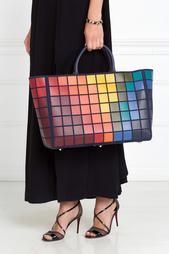 Кожаная сумка Ebury Maxi Giant Pixels Anya Hindmarch