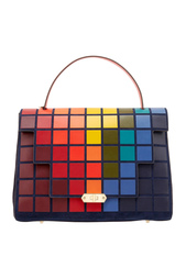 Кожаная сумка Bathurst Satchel Giant Pixels Anya Hindmarch