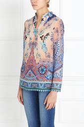 Шелковая блузка с принтом Etro