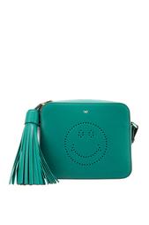 Кожаная сумка Smiley Anya Hindmarch