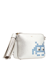 Кожаная сумка Space Invader Anya Hindmarch