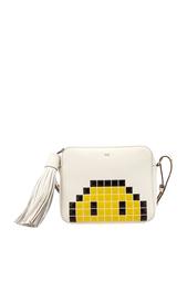 Кожаная сумка Pixel Smiley Anya Hindmarch