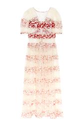 Шелковое прозрачное платье Etro