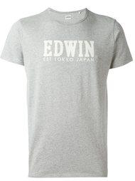 футболка с принтом-логотипом Edwin