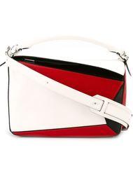 сумка на плечо с контрастными панелями Loewe