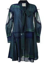 платье в горох с бантом Sacai