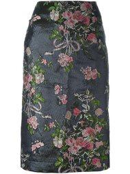 юбка-карандаш с цветочной вышивкой  Lanvin