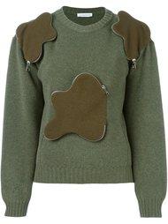 свитер с объемными карманами на молнии J.W. Anderson