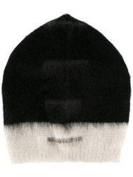 шапка дизайна колор-блок Rick Owens