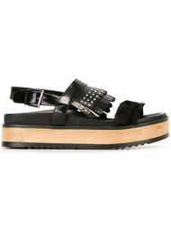 сандалии с бахромой Alexander McQueen