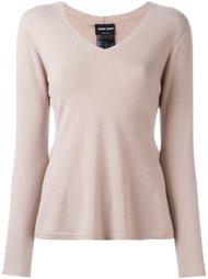 свитер c V-образным вырезом  Giorgio Armani
