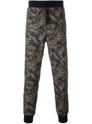 спортивные брюки с камуфляжным принтом Dolce & Gabbana