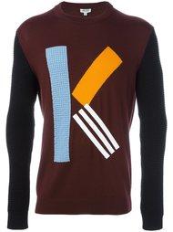свитер с контрастной буквой К Kenzo