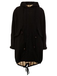 mid-length hooded coat Uma Wang