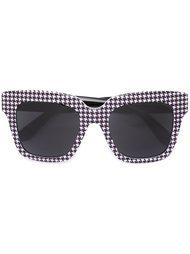 солнцезащитные очки в ломаную клетку  Dolce & Gabbana