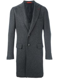 однобортное пальто  Isaia