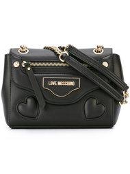 сумка на плечо с логотипом  Love Moschino