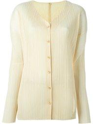 плиссированная рубашка без воротника Issey Miyake Vintage