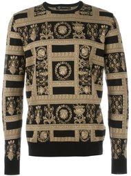 свитер с узором  Versace