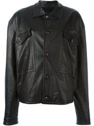 кожаная куртка Versace Vintage