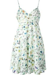 платье с принтом бабочек Versace Vintage