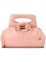 клатч с аппликацией цветка Chanel Vintage