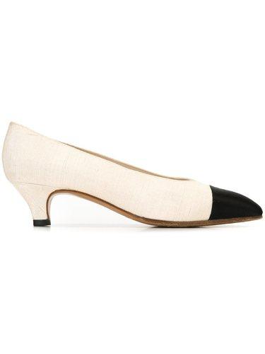 туфли с контрастным носком Chanel Vintage