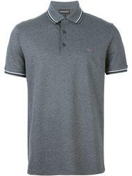 меланжевая футболка-поло  Emporio Armani