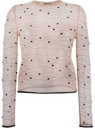 прозрачный вязаный свитер  Alexander McQueen