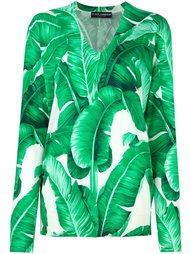 джемпер с принтом банановых листьев Dolce & Gabbana