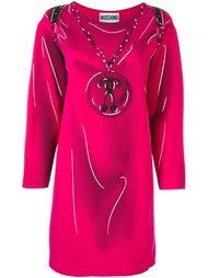 платье с эффектом 'тромплей' Moschino