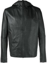 hooded leather jacket Lot78