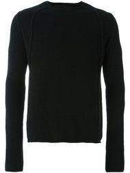 свитер с деталями в рубчик  Isabel Benenato