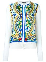 кардиган с принтом 'Majolica' Dolce & Gabbana