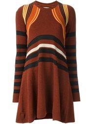 трикотажное полосатое платье Paco Rabanne
