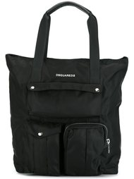 сумка-тоут с логотипом Dsquared2